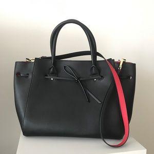 Topshop Black & Red Large Handbag